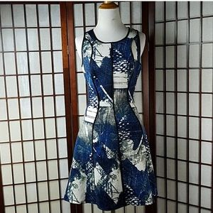 Dresses & Skirts - Mossing scuba Fit & Flare sleeveless dress